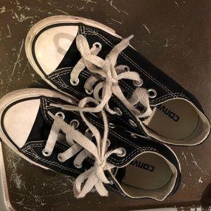 Kids Black Converse Low Tops
